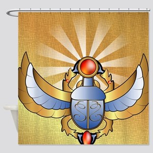 Beautiful scarab Shower Curtain