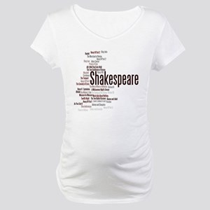 Shakespeare's Plays Maternity T-Shirt