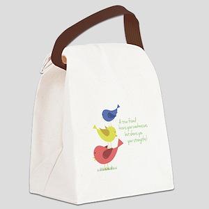 A True Friend Canvas Lunch Bag