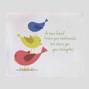 A True Friend Throw Blanket