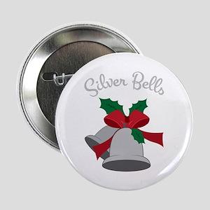 "Silver Bells 2.25"" Button"