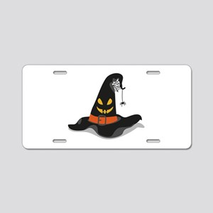 Spooky Witch Hat Aluminum License Plate