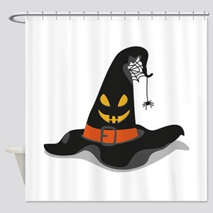 Spooky Witch Hat Shower Curtain
