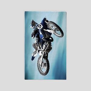 Dirt Bike Jump 3'x5' Area Rug