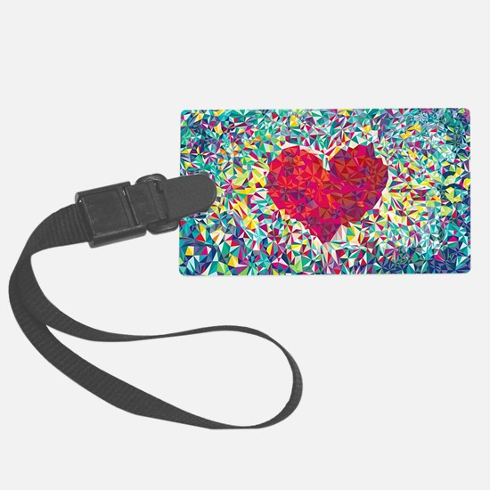 Cute Hearts Luggage Tag