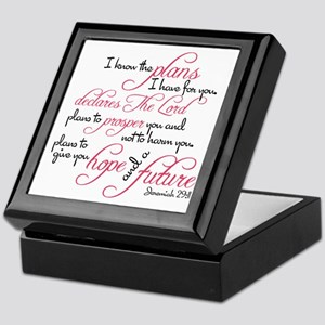Jeremiah 29:11 - For I know the plans Keepsake Box