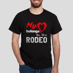 My Heart belongs to the Rodeo Dark T-Shirt