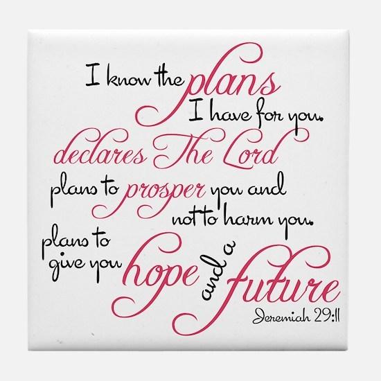 Funny Bible verse Tile Coaster