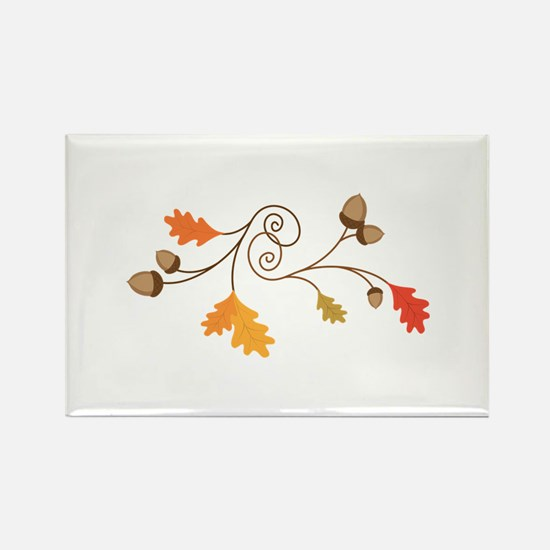 Leaves & Acorn Swirl Magnets