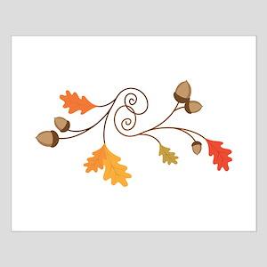 Leaves & Acorn Swirl Posters