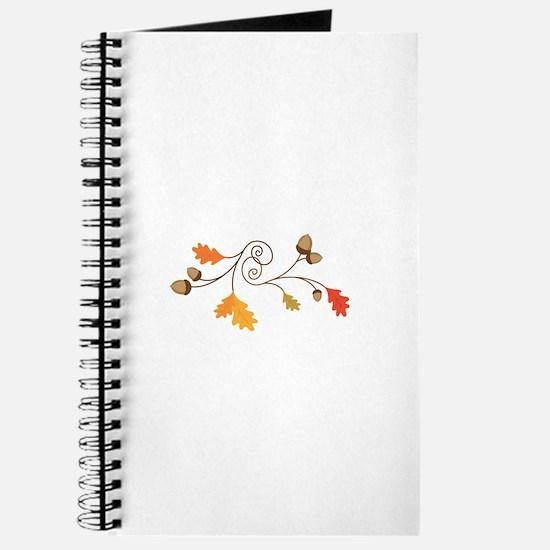 Leaves & Acorn Swirl Journal