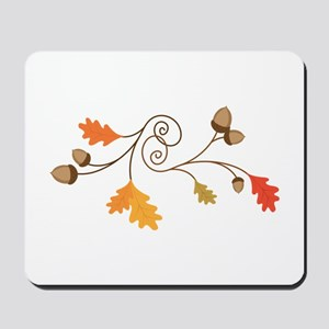 Leaves & Acorn Swirl Mousepad