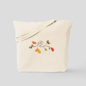 Leaves & Acorn Swirl Tote Bag