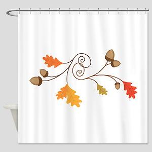 Leaves & Acorn Swirl Shower Curtain