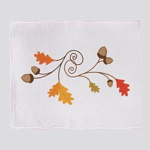 Leaves & Acorn Swirl Throw Blanket