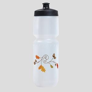 Leaves & Acorn Swirl Sports Bottle