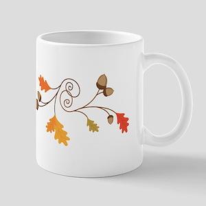 Leaves & Acorn Swirl Mugs