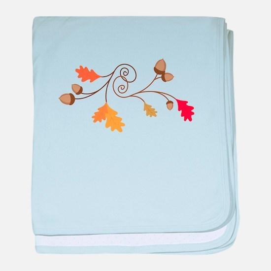 Leaves & Acorn Swirl baby blanket