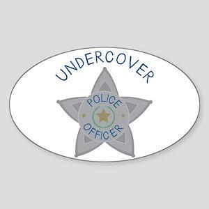 Undercover Police Officer Sticker