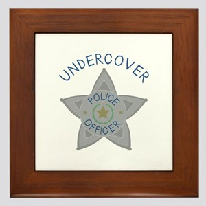 Undercover Police Officer Framed Tile