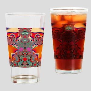Red Meditation Drinking Glass