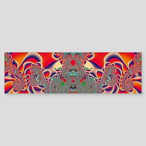 Red Meditation Bumper Sticker