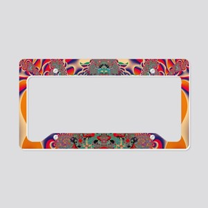 Red Meditation License Plate Holder