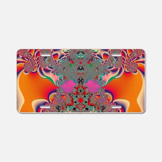 Red Meditation Aluminum License Plate