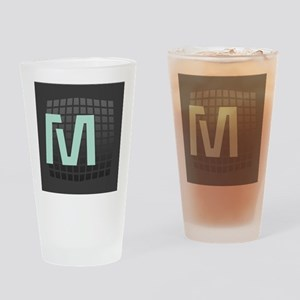 Cool Mint Monogram Drinking Glass