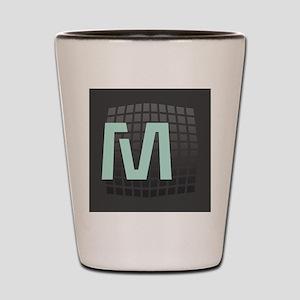 Cool Mint Monogram Shot Glass