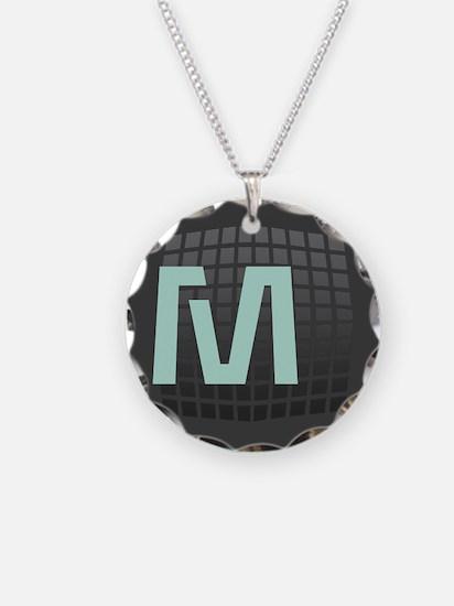 Cool Mint Monogram Necklace