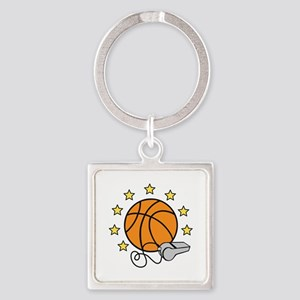 Basketball & Whistle Keychains