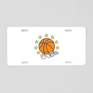 Basketball & Whistle Aluminum License Plate