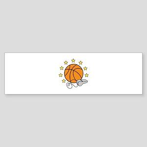 Basketball & Whistle Bumper Sticker