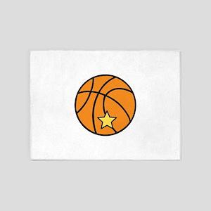 Starred Basketball 5'x7'Area Rug