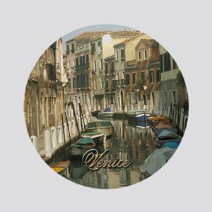 Venetian Canal Ornament (Round)
