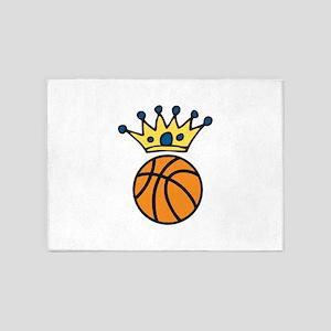 Crowned Basketball 5'x7'Area Rug