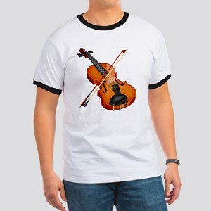 Beautiful Violin and Bow Musical Instrume Ringer T