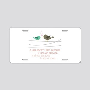 Sing a Song Aluminum License Plate