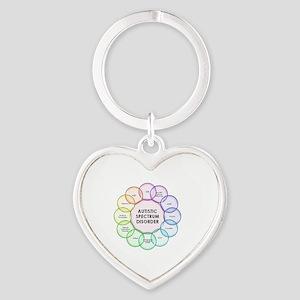 Autism Heart Keychain