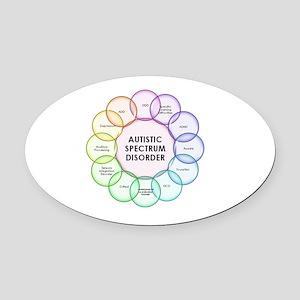Autism Oval Car Magnet