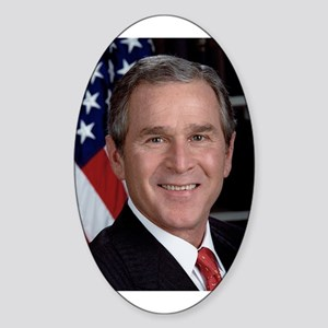 George Bush Dick Cheney 2004 Oval Sticker