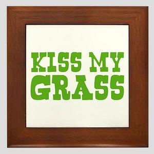 Kiss My Grass Gardening Framed Tile