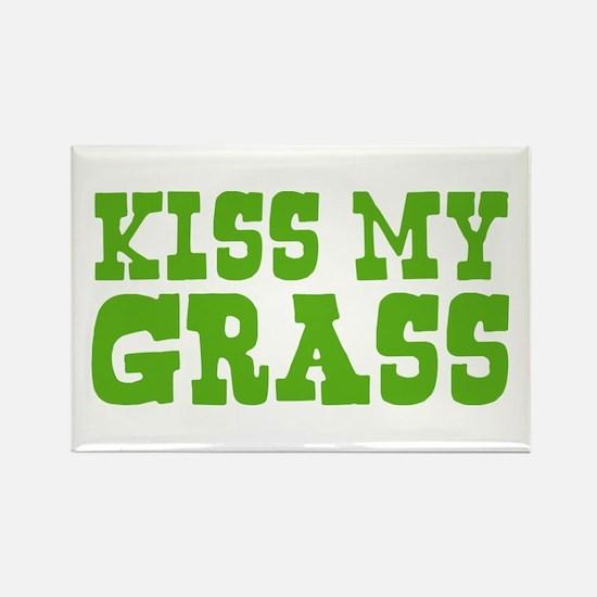 Kiss My Grass Gardening Rectangle Magnet