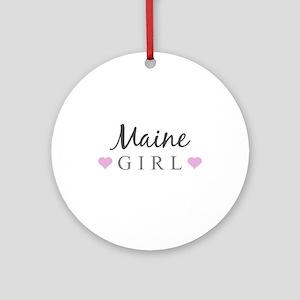 Maine Girl Ornament (Round)