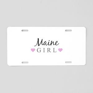 Maine Girl Aluminum License Plate