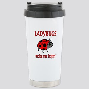 Ladybug Happy Stainless Steel Travel Mug