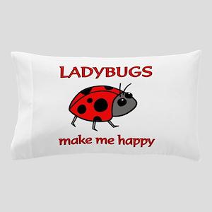 Ladybug Happy Pillow Case