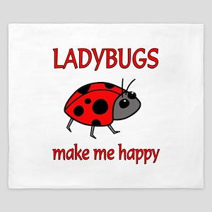 Ladybug Happy King Duvet