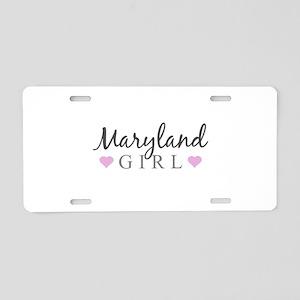 Maryland Girl Aluminum License Plate